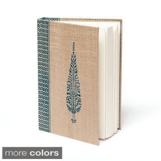 Tassar Mughal Leaf Motif Silk Block Print Journal (India)