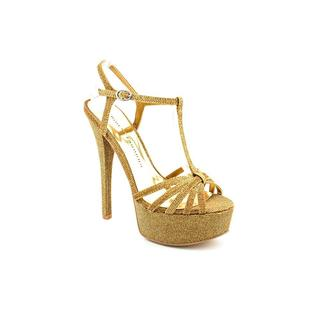 Chinese Laundry Women's 'Take Care' Gold Basic Textile Sandals