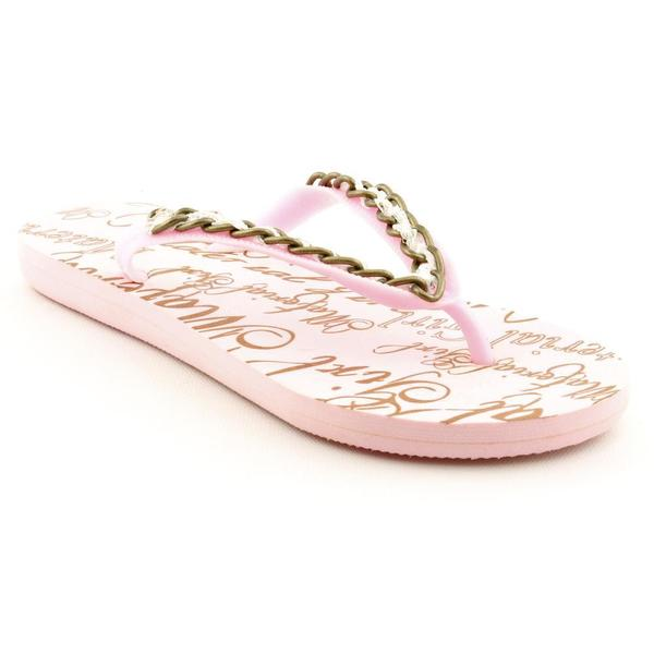 Material Girl Women's 'Cocoa' Pink Synthetic Sandals