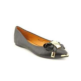 Lollipop Women's 'Nelly' Black Faux-Leather Casual Shoes