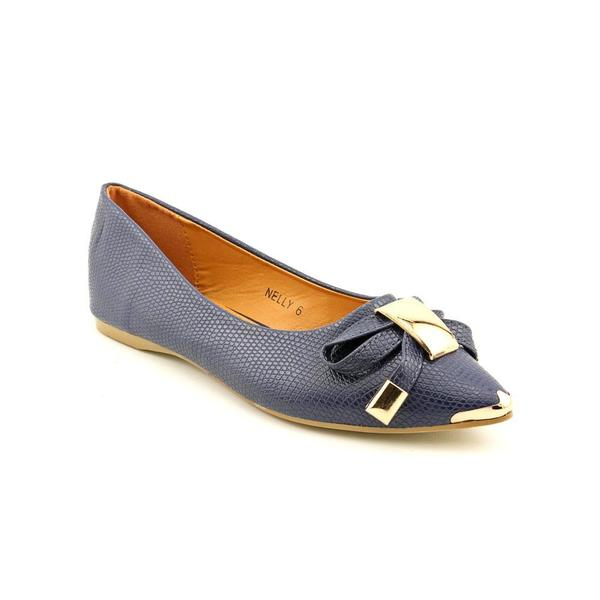 Lollipop Women's 'Nelly' Blue Faux-Leather Casual Shoes
