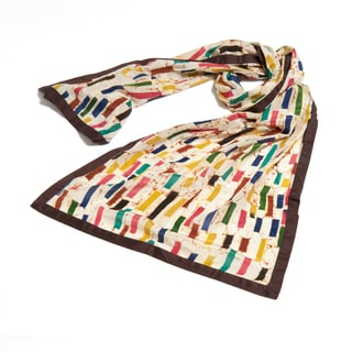 Tuity Fruity Block Batik Silk Stole (India)