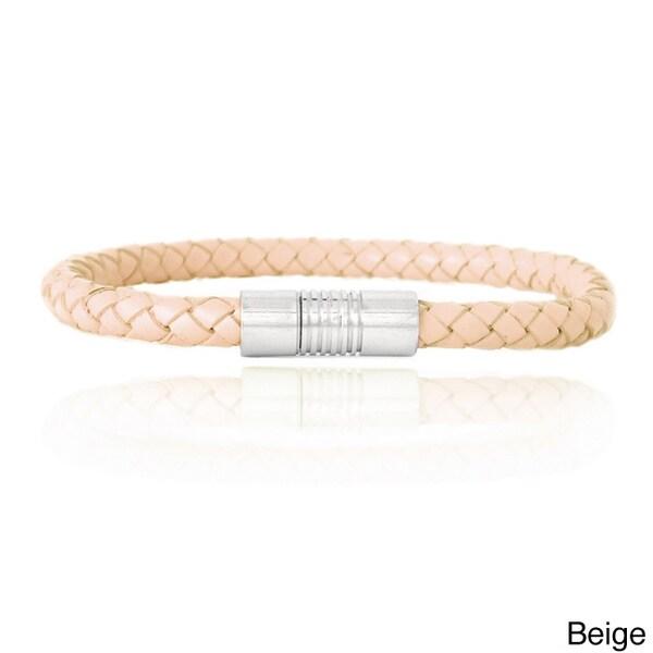 Mondevio Leather Braided Bracelet