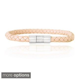 Mondevio Leather Braided Bracelet