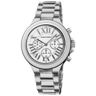 Vernier Women's Boyfriend Quartz Silvertone Roman Numeral Bracelet Watch