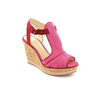 Enzo Angiolini Women's 'Gesso' Kid Suede Sandals (Size 7.5 )