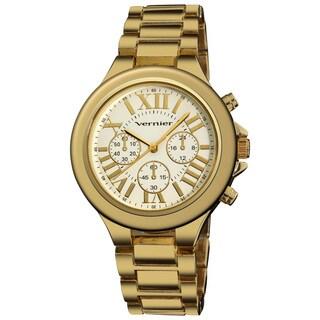 Vernier Women's Boyfriend Quartz Goldtone Roman Numeral Bracelet Watch
