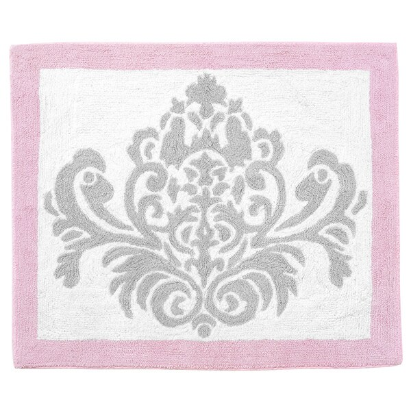 Sweet Jojo Designs Elizabeth Damask Accent Floor Rug in Elizabeth