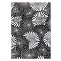 Alliyah Hand Made 'Floridly' Black New Zealand Blend Wool Rug 9 Feet x 12 Feet