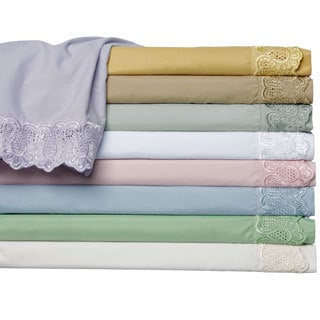 Majestic Embroidered Lace Sheet Set