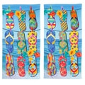 Tropical Flip Flop Beach Towel Set of 2