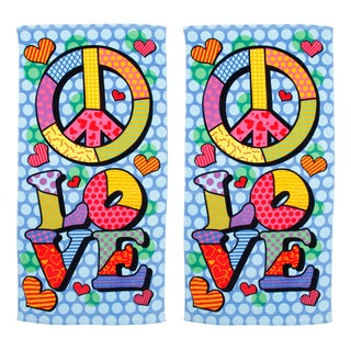 Love and Peace Beach Towel (Set of 2)