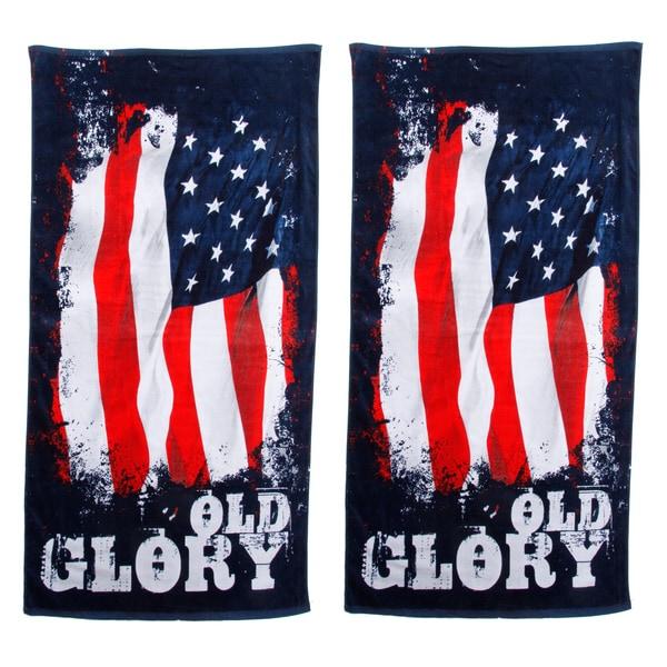 Old Glory Beach Towel Set of 2