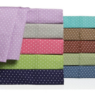 Swiss Dot 100 Percent Cotton 300 Thread Count Sheet Set