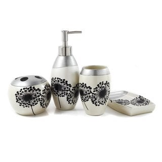 Dandelion Decal 4-piece Bath Accessory Set