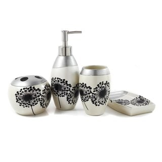 Dandelion Decal Bath Accessory 4-piece Set