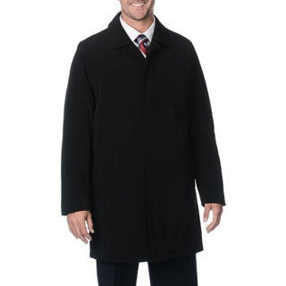 Kenneth Cole Men's Black Trim Fit Rain Coat