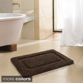 FreePort Microfiber High Pile Memory Foam Bath Rug