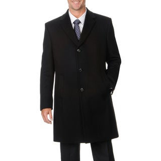 Kenneth Cole Men's Black 4-button Top Coat