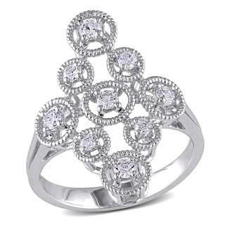 Miadora 14k White Gold 3/8ct TDW Diamond Ring (G-H, SI1-SI2)