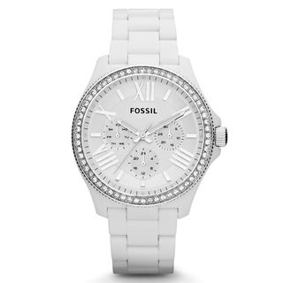 Fossil Women's AM4494 Cecile White Chronograph Watch