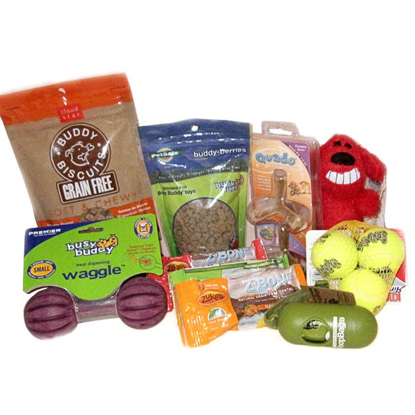 Dog Treats 'n' Toys Gift Set for Small Breeds