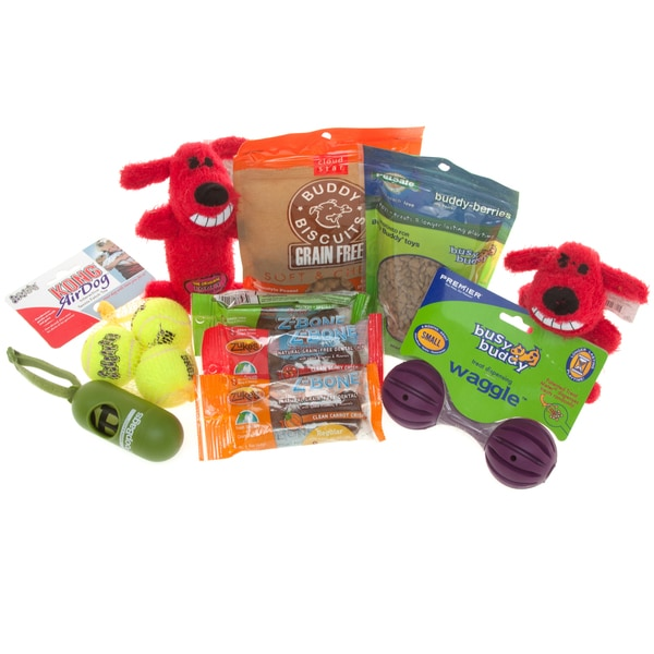 Dog Gift Set of Toys n' Treats for Small Breeds