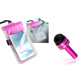 INSTEN Hot Pink Waterproof Bag/ Pink Headset Dust Cap with Mini Stylus