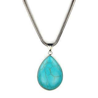 Jewelry by Dawn Teardrop Turquoise Magnesite Snake Chain Necklace