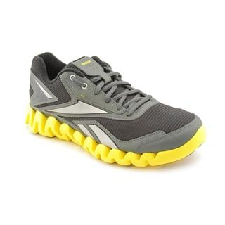 Reebok Men's 'ZigActivate' Black-and-Yellow Synthetic Athletic Shoe