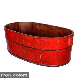 Han Li Wooden Oval Bath Sink