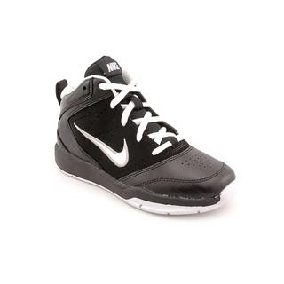 Nike Boy (Youth) 'Team Hustle D 5 (PS)' Faux-Leather High-Top Athletic Shoe