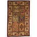 Handmade Classic Bakhtieri Multicolored Wool Rug (4' x 6')
