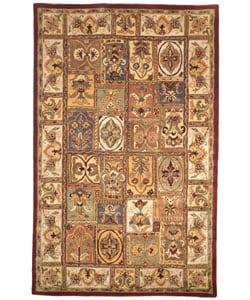 Handmade Classic Bakhtieri Multicolored Wool Rug (5' x 8')