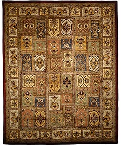 Handmade Classic Bakhtieri Multicolored Wool Rug (9'6 x 13'6)