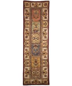 Handmade Classic Bakhtieri Multicolored Wool Rug (2'3 x 10')