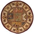 Safavieh Handmade Classic Bakhtieri Multicolored Wool Rug (3'6 Round)