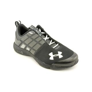 Under Armour Boy (Youth) 'BGS Micro G Split' Black Synthetic Athletic Shoe