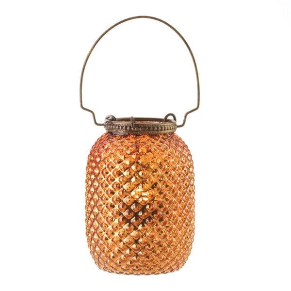 Amber Diamond Candle Lantern