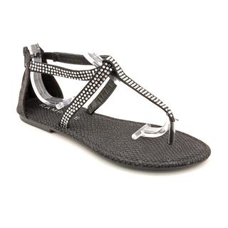Rampage Women's Black 'Poland' Basic Textile Sandals