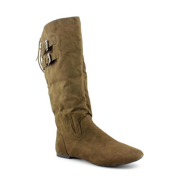 Material Girl Women's 'Bonita' Brown Fabric Boots