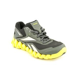 Reebok Boy (Youth) 'ZigActivate' Black-and-Yellow Synthetic Athletic Shoe