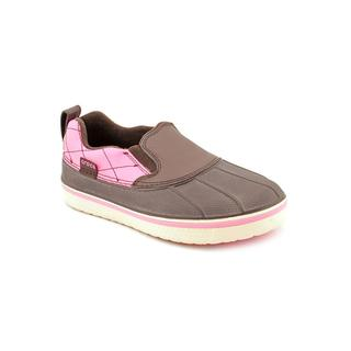 Crocs Girl (Youth) 'AllCast Duck' Leather Athletic Shoe