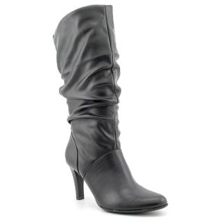 White Mountain Women's 'Gimlet' Black Faux-Leather Boots