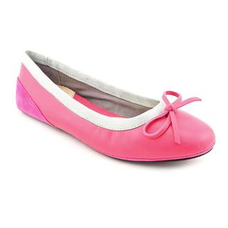 Amiana Women's 'A5001' Pink Leather Casual Shoes