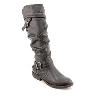 White Mountain Women's 'Locket' Black Synthetic Boots