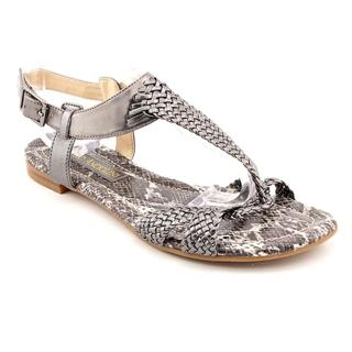 Enzo Angiolini Women's 'Triton' Gray Synthetic Sandals