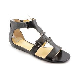 Enzo Angiolini Women's 'Yoshi' Black Leather Sandals (Size 10)