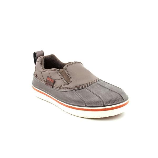 Crocs Girl (Youth) 'AllCast Duck' Leather Athletic Shoe (Size 1)