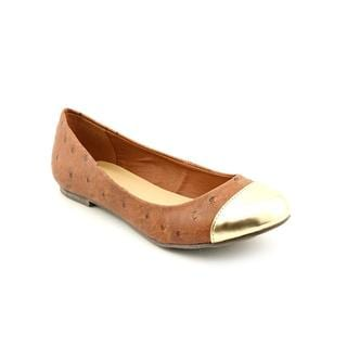 C Label Women's 'Falt-19' Brown Faux Leather Casual Shoes